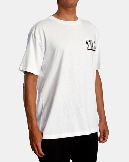 6 Defer | Big Block Short Sleeve Tee White AVYZT00522 RVCA