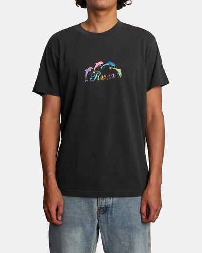 1 Evan Mock | Tourist Dolphin Short Sleeve Tee Black AVYZT00544 RVCA