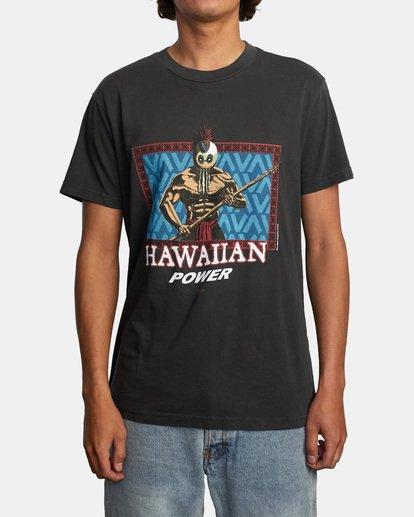 1 EVAN MOCK HAWAIIAN WARRIOR SS Black AVYZT00545 RVCA