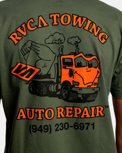 7 Auto Repair Short Sleeve Tee Green AVYZT00550 RVCA