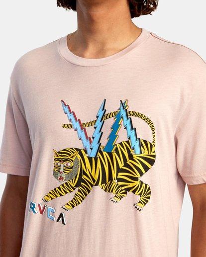 4 Matt Leines | Tiger Short Sleeve Tee Grey AVYZT00556 RVCA