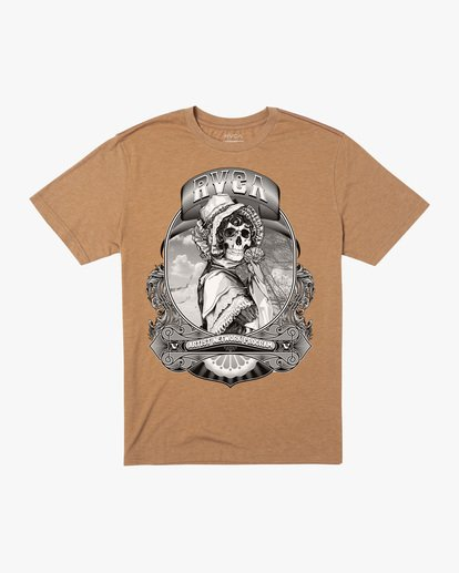 0 George Thompson   Skull Bonnet Short Sleeve Tee Brown AVYZT00557 RVCA
