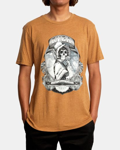2 George Thompson   Skull Bonnet Short Sleeve Tee Brown AVYZT00557 RVCA