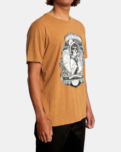 6 George Thompson   Skull Bonnet Short Sleeve Tee Brown AVYZT00557 RVCA