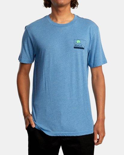 2 Highland Short Sleeve Tee Blue AVYZT00558 RVCA
