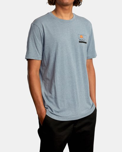 6 Highland Short Sleeve Tee Grey AVYZT00558 RVCA