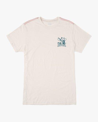 0 RVCA Devils Short Sleeve Tee White AVYZT00560 RVCA