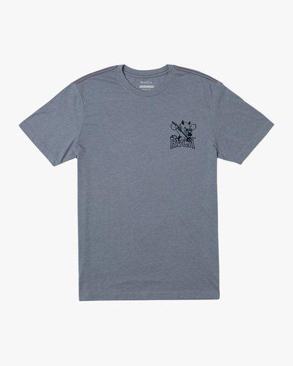 0 RVCA Devils Short Sleeve Tee Grey AVYZT00560 RVCA