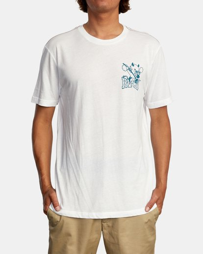2 RVCA Devils Short Sleeve Tee White AVYZT00560 RVCA