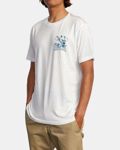 5 RVCA Devils Short Sleeve Tee White AVYZT00560 RVCA