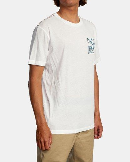 6 RVCA Devils Short Sleeve Tee White AVYZT00560 RVCA