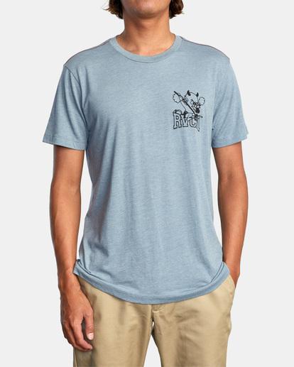 2 RVCA Devils Short Sleeve Tee Grey AVYZT00560 RVCA
