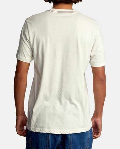 3 Pennant Short Sleeve Tee White AVYZT00564 RVCA
