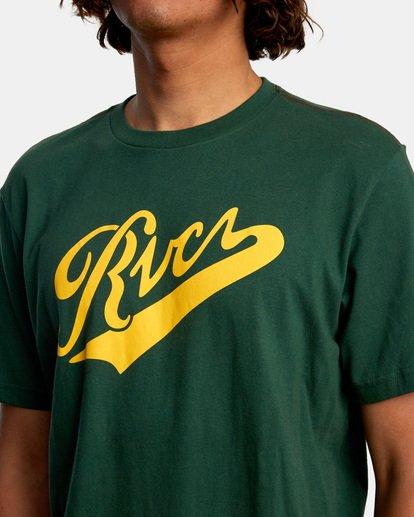 3 Pennant Short Sleeve Tee Green AVYZT00564 RVCA