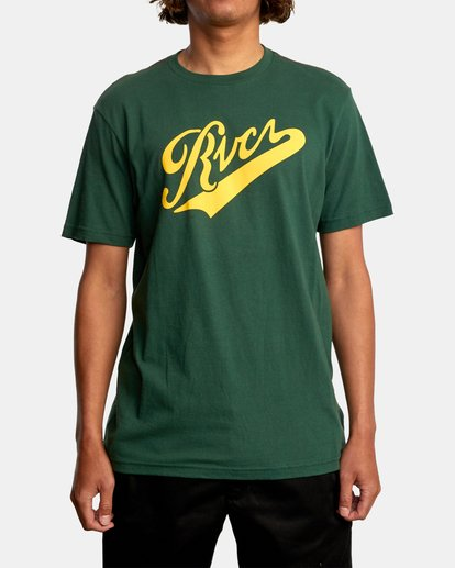 1 Pennant Short Sleeve Tee Green AVYZT00564 RVCA
