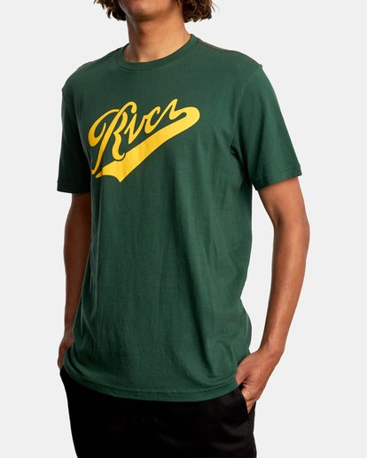 4 Pennant Short Sleeve Tee Green AVYZT00564 RVCA