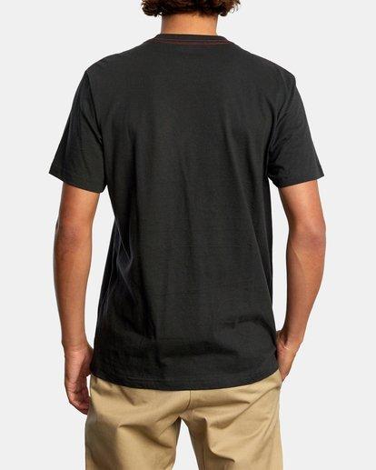 3 Pennant Short Sleeve Tee Black AVYZT00564 RVCA