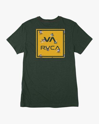 1 VA All The Way Short Sleeve Tee Green AVYZT00566 RVCA