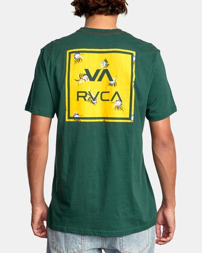 3 VA All The Way Short Sleeve Tee Green AVYZT00566 RVCA