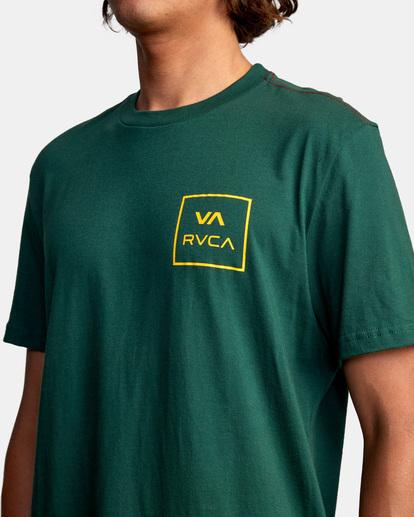 4 VA All The Way Short Sleeve Tee Green AVYZT00566 RVCA