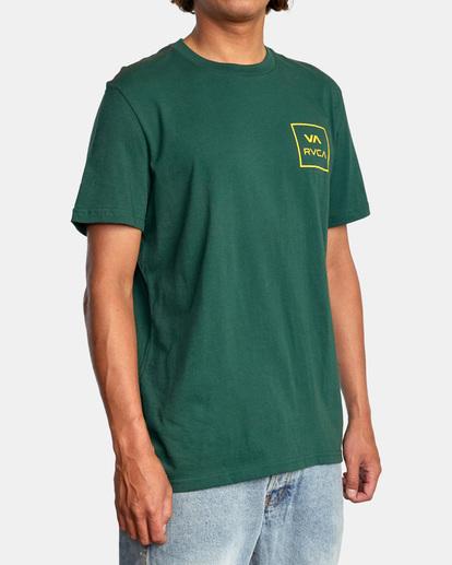 6 VA All The Way Short Sleeve Tee Green AVYZT00566 RVCA
