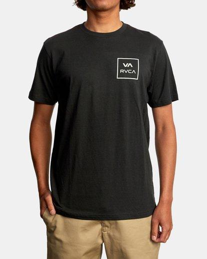 2 VA All The Way Short Sleeve Tee Black AVYZT00566 RVCA