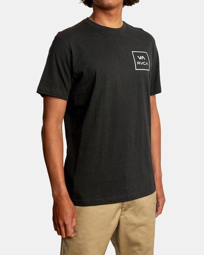 6 VA All The Way Short Sleeve Tee Black AVYZT00566 RVCA