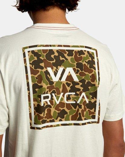 7 VA All The Way Short Sleeve Tee White AVYZT00566 RVCA