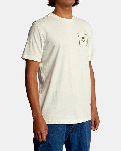 6 VA All The Way Short Sleeve Tee White AVYZT00566 RVCA