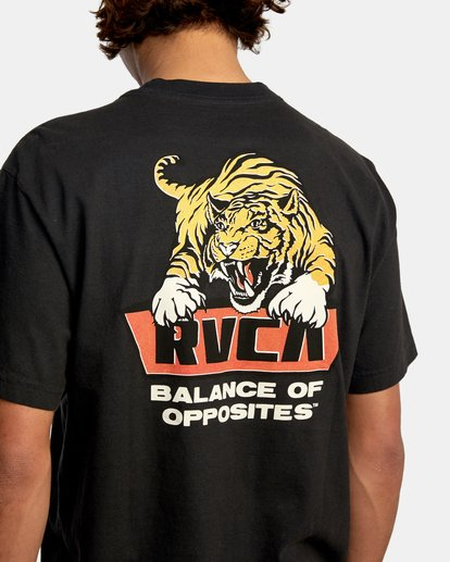7 Clawed Short Sleeve Tee Black AVYZT00580 RVCA