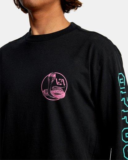 4 Cobra University Long Sleeve Tee Black AVYZT00584 RVCA