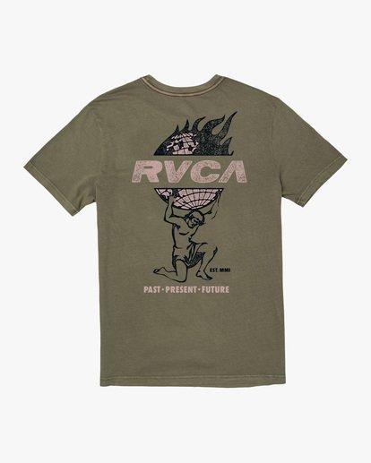 1 Atlas Short Sleeve Tee Green AVYZT00588 RVCA