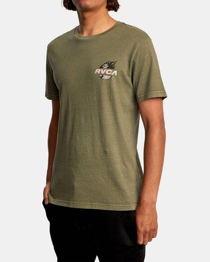 5 Atlas Short Sleeve Tee Green AVYZT00588 RVCA