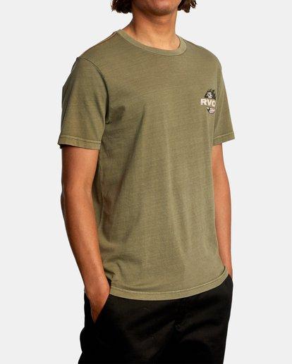 6 Atlas Short Sleeve Tee Green AVYZT00588 RVCA
