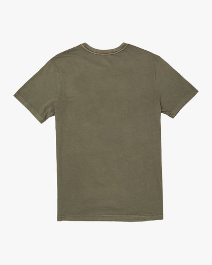 1 Double Major Short Sleeve Tee Green AVYZT00589 RVCA