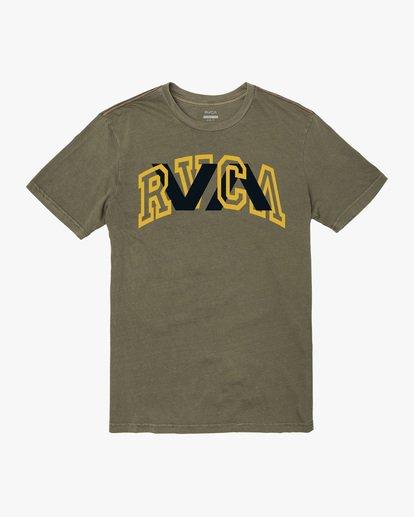 0 Double Major Short Sleeve Tee Green AVYZT00589 RVCA