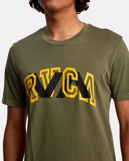4 Double Major Short Sleeve Tee Green AVYZT00589 RVCA