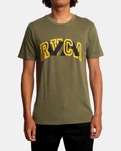 2 Double Major Short Sleeve Tee Green AVYZT00589 RVCA