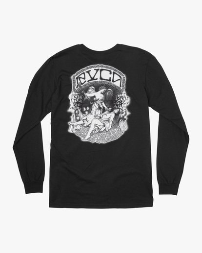 1 Kevin Ancell | St. Margret Long Sleeve Tee Black AVYZT00596 RVCA