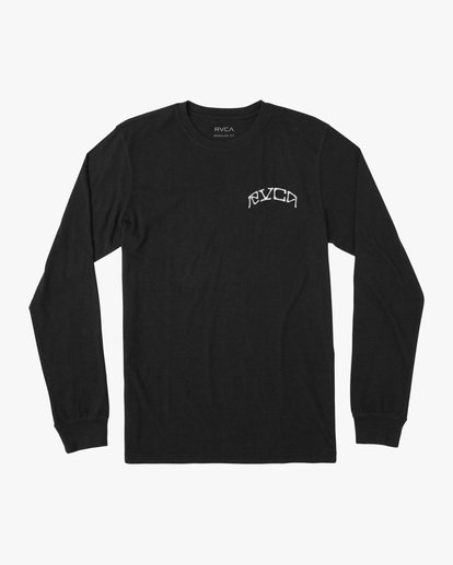 0 Kevin Ancell | St. Margret Long Sleeve Tee Black AVYZT00596 RVCA