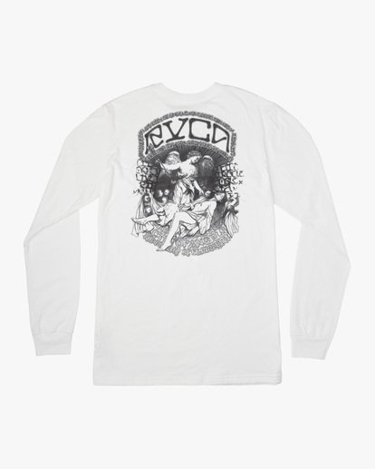 1 Kevin Ancell | St. Margret Long Sleeve Tee White AVYZT00596 RVCA