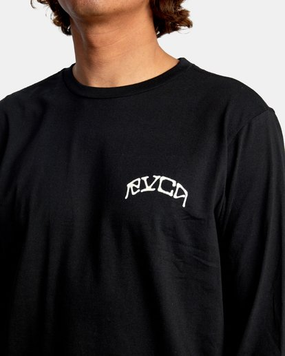 4 Kevin Ancell | St. Margret Long Sleeve Tee Black AVYZT00596 RVCA