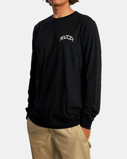5 Kevin Ancell | St. Margret Long Sleeve Tee Black AVYZT00596 RVCA