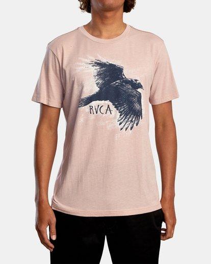2 Ben Horton | Raven Short Sleeve Tee Grey AVYZT00625 RVCA