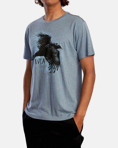 5 Ben Horton | Raven Short Sleeve Tee Grey AVYZT00625 RVCA