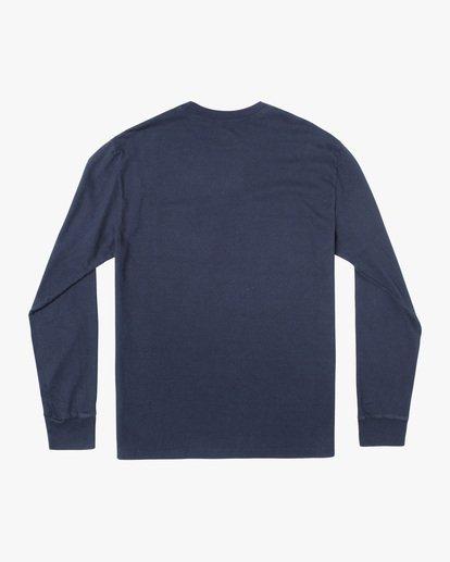 1 Solo Label Long Sleeve Tee Blue AVYZT00645 RVCA