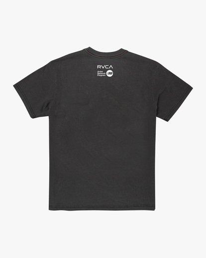1 Matt Leines | Facet Face Short Sleeve Tee Black AVYZT00649 RVCA