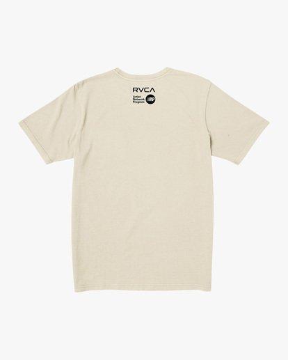 1 Matt Leines   Facet Face Short Sleeve Tee Silver AVYZT00649 RVCA
