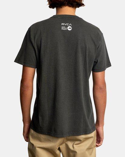 3 Matt Leines | Facet Face Short Sleeve Tee Black AVYZT00649 RVCA