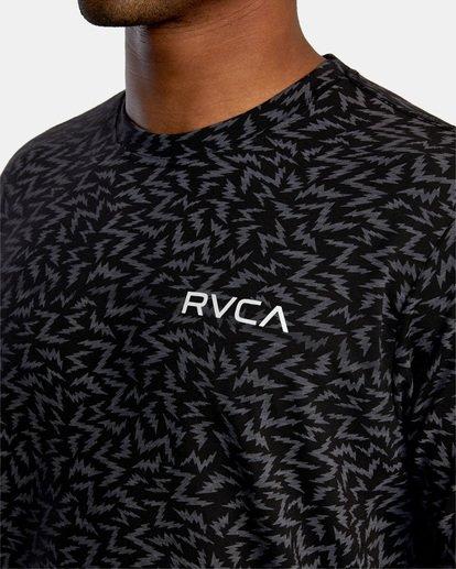 2 Matt Leines | VA Sport Leines Bolt Allover Workout Shirt Black AVYZT00669 RVCA